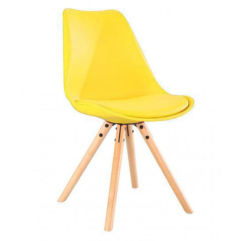 Colma Tulip Dining Chair - Yellow - EGGREE