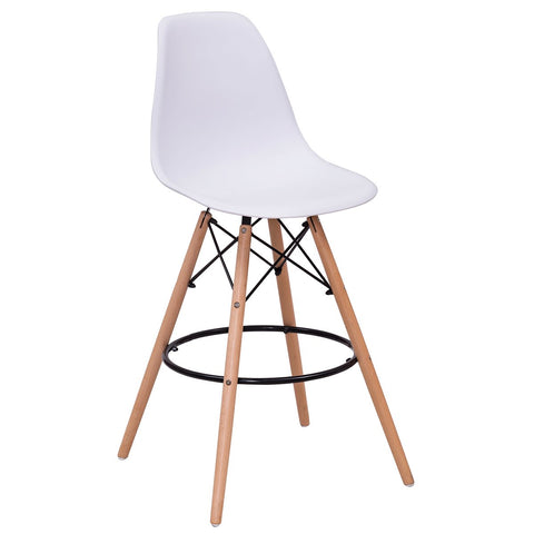 Eames Style DSW Bar Chair Modern Plastic Chair Modern Pub Kitchen Counter Height - EGGREE
