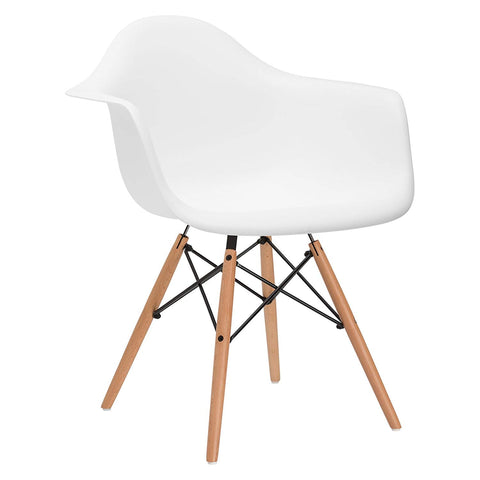 Eames Style DAW Chair - White - EGGREE