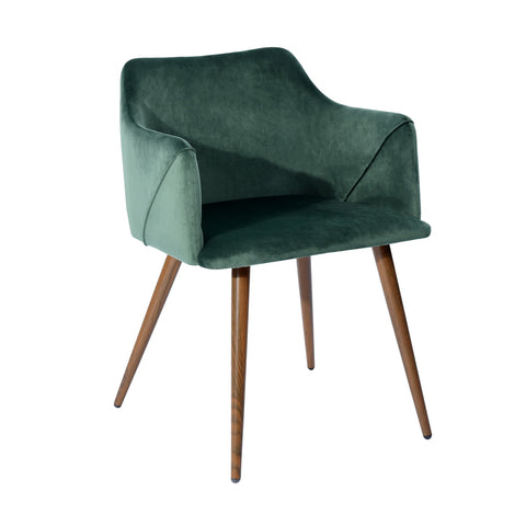 Vincent Velvet Dining Chairs Modern Upholstered Armhair with Metal Legs For Dining Living Room - EGGREE