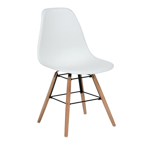 Eames Style DSW Chair - White - EGGREE