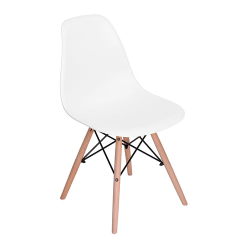 Eames Style DSW Chair Modern Mid Century Dining Chair Plastic Chair for Kitchen Dining Living Room Side Chair - EGGREE