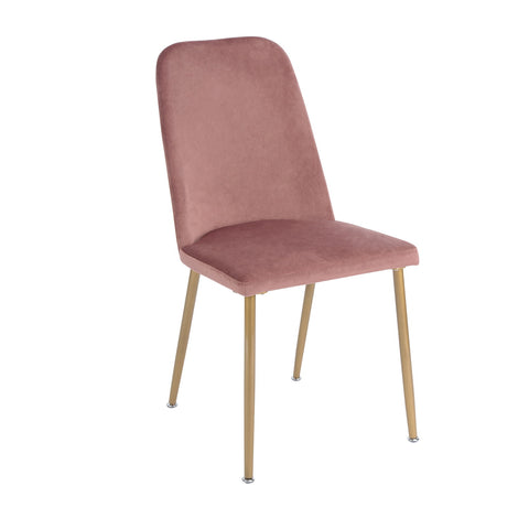 Verdi Style Velvet Dining Chairs Modern Designed Chair with Metal Legs For Dining Kitchen Living Room - EGGREE