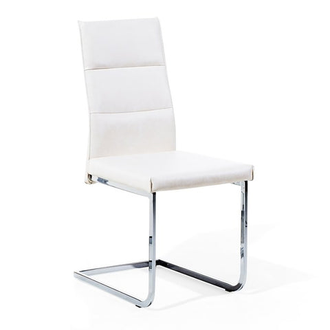 Industrial PU Dining Chair - White - EGGREE