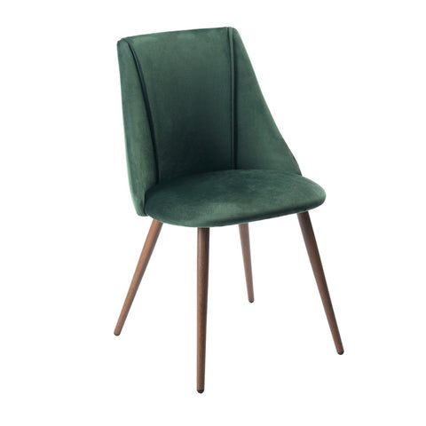 Volta Velvet Dining Chairs Modern Upholstered Accent Chair with Metal Legs For Dining Living Room - EGGREE