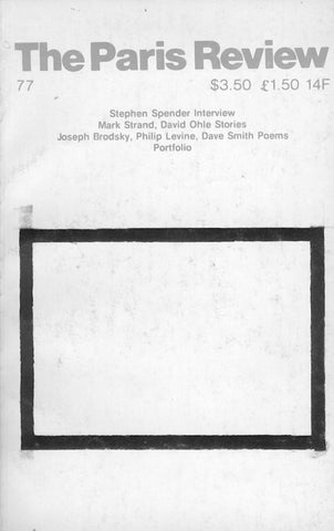 The Paris Review No. 77 Winter-Spring 1980