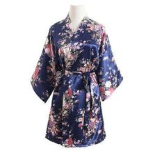 Load image into Gallery viewer, Hot Women Short floral Robe Dressing Gown Bridal Wedding Bride Bridesmaid Kimono