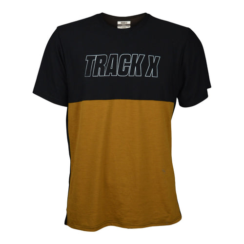 Derby Merino Tech Tee Men's - Black/Whiskey