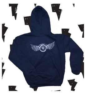 Wing Hoodie Youth - Navy