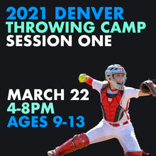 Load image into Gallery viewer, Softball Catchers' Throwing Camp with Amanda Smith - Denver, March 22 or 23