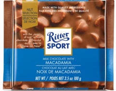 Ritter Sport Milk Chocolate w/Macadamia Nuts