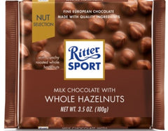 Ritter Sport Milk Chocolate w/Whole Hazelnuts
