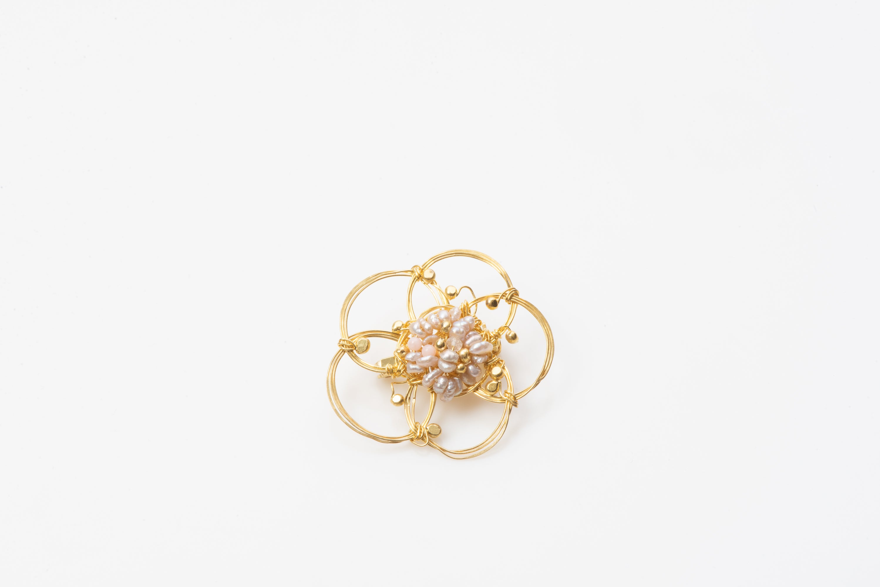 African Rose Gold Plated Brooch