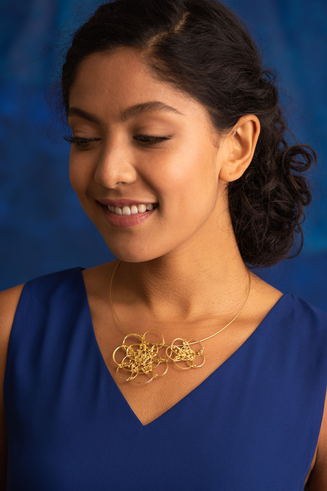 Magnolia Duo Gold Plated Necklace