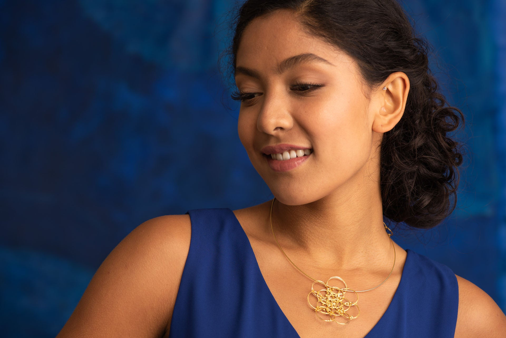 Magnolia Gold Plated Necklace