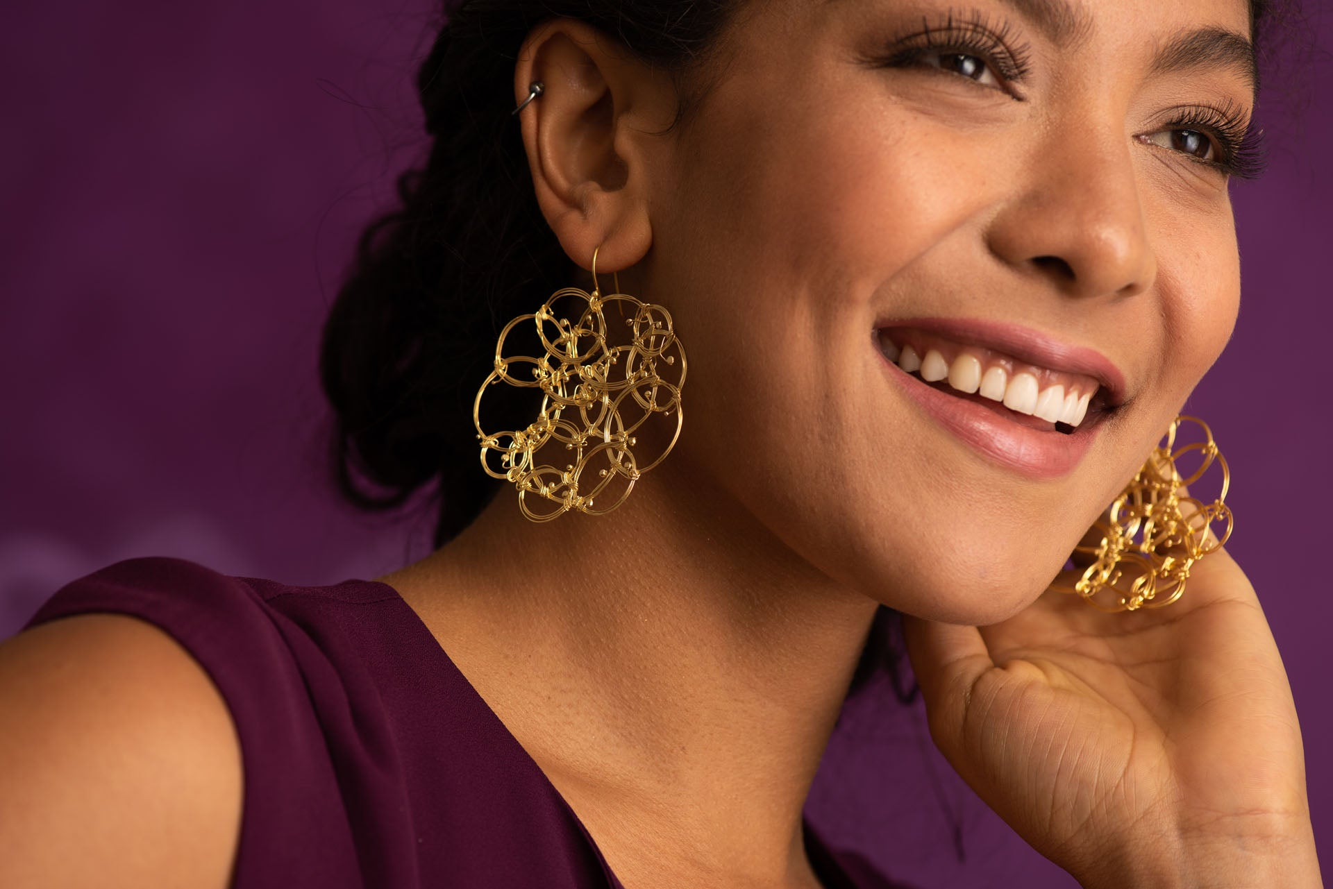 Supernova Gold Plated Earrings
