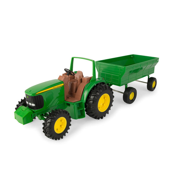 8 INCH JD TRACTOR AND WAGON