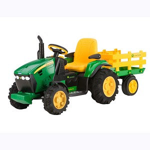John Deere 12-Volt Battery Operated Ground Force Tractor with Wagon