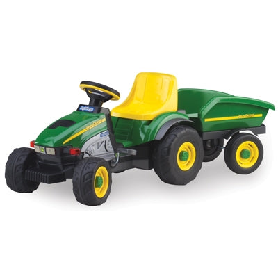 John Deere Plastic Pedal Tractor with Trailer