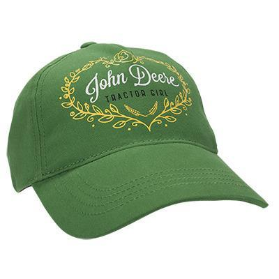 John Deere Girl Youth Green Cap