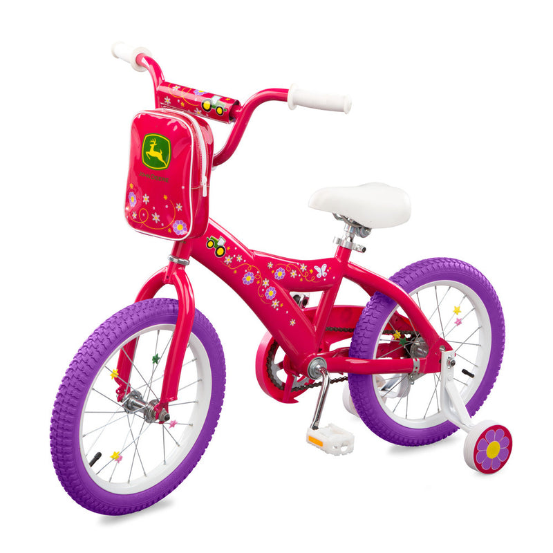 JOHN DEERE 16 INCH BICYCLE PINK