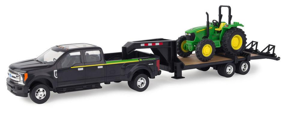 1/64 JD 530 FORD F350 W/TRAILER