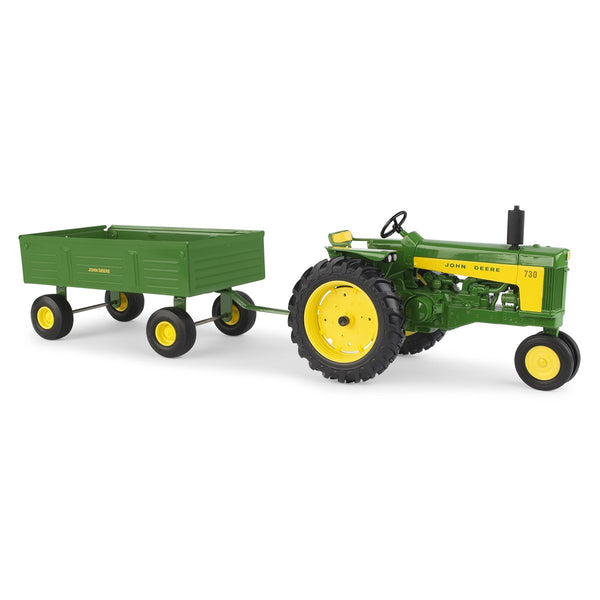 John Deere 730 Tractor with Barge Wagon Toy