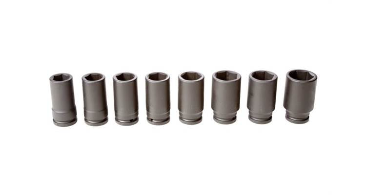 John Deere 8-piece 3/4-in. Drive Metric Deep Impact Socket Set
