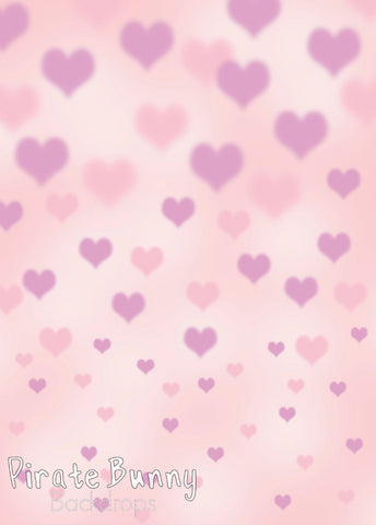 Pink and Purple Bokeh Hearts
