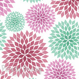 Chrysanthemums | Pink and Teal
