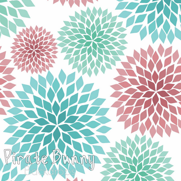 Chrysanthemums | Mint and Pink