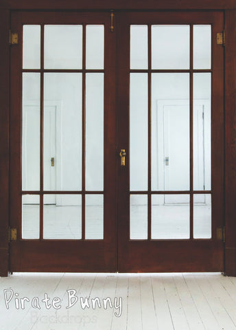 Brown Doors with Glass Panels