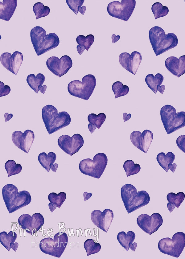 Purple NICU Hearts