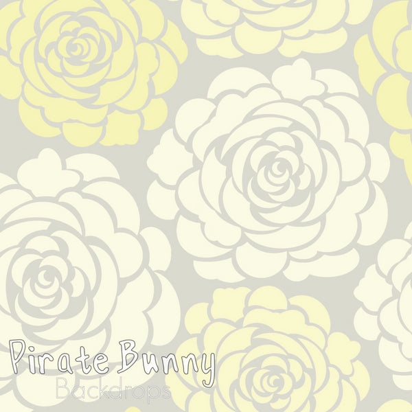 Peonies | Gray and Yellow