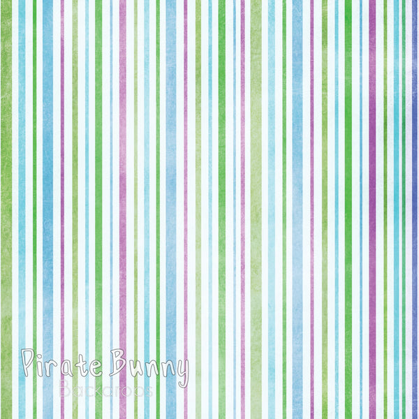 Colorful Stripes | Green Blue and Pink