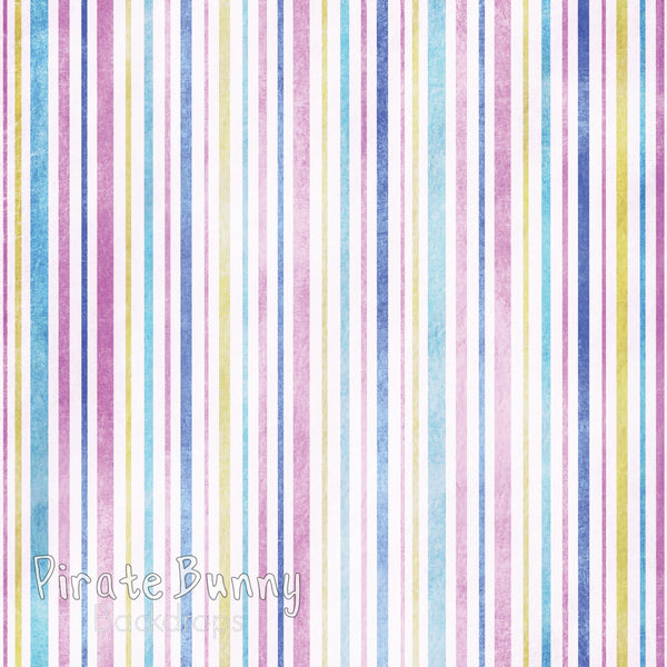 Colorful Stripes | Pink Yellow and Blue