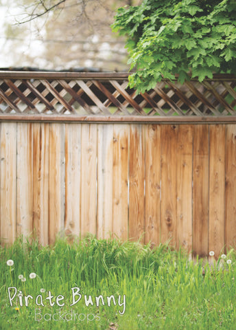 Brown Wooden Fence with Greenery