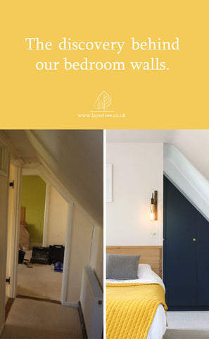Before and after of bedroom renovation