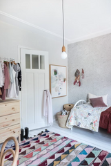 steam bent coat hooks in child's bedroom
