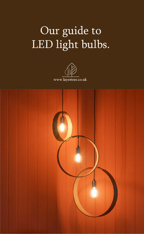 LED bulbs in wooden ceiling lights