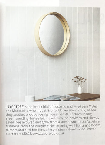 LayerTree Oak wall mirror