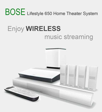 Bose Lifestyle 650 Home Theater System wireless music streaming