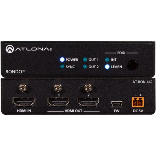 ATLONA AT-RON-442 4K HDR Two Output HDMI Distribution Amplifier