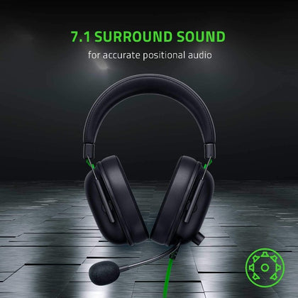 Razer BlackShark V2 X Gaming Headset: 7.1 Surround Sound - 50mm Drivers - Memory Foam Cushion - PC, PS4,PS5, Nintendo Switch, Xbox One, Xbox Series X & S, Mobile - 3.5mm Audio Jack - Black