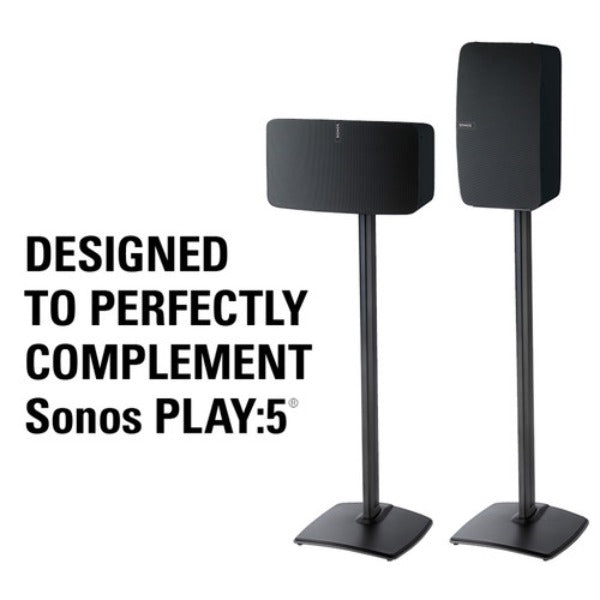 SANUS WSS51-B1 Wireless Speaker Stand for the Sonos PLAY:5 (Black, Single)