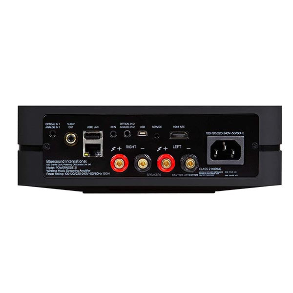 Bluesound Powernode 2i Wireless Multi-Room Streaming High-Res Amplifier Black