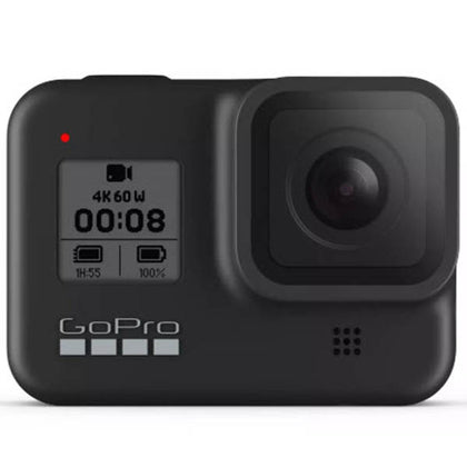 GoPro HERO 8 Black 4K Action Camera Bundle - 2 BATTERY, Handler, Case, & SD Card