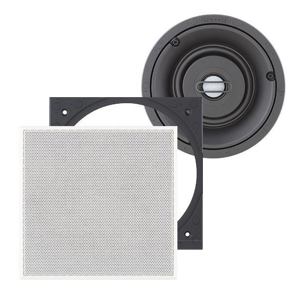 SONANCE VP46R SQUARE Visual Performance Passive 2-Way In-Ceiling Speaker (Pair)