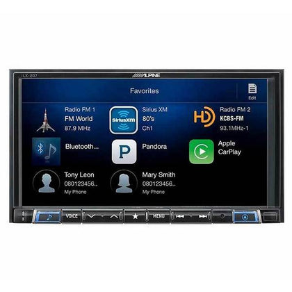 Alpine iLX-207 - 7 inch Digital Multimedia Audio | Video Receiver
