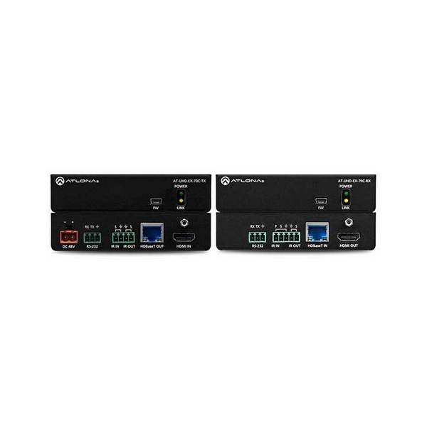 Atlona AT-UHD-EX-70C-KIT | 4K/UHD 230' HDBaseT Tx/Rx with IR/Rs232 Control and Poe